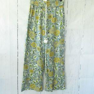 Anthropologie Pajama Pants Floral Ankle Crop